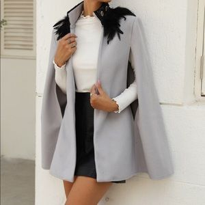 SHEIN Feather cape
